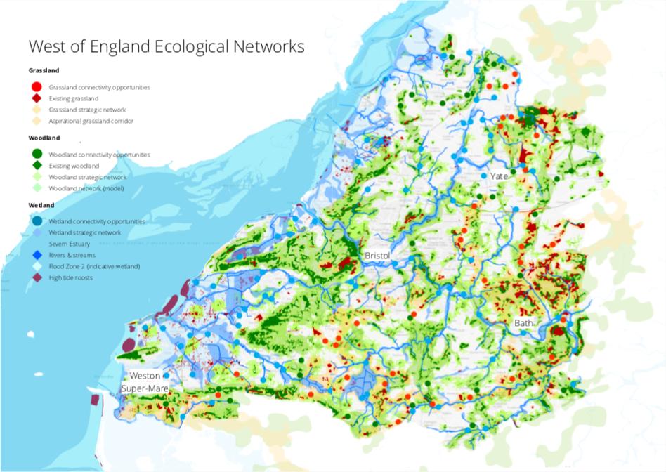 Map Of Bristol England.West Of England Nature Partnership Wenp
